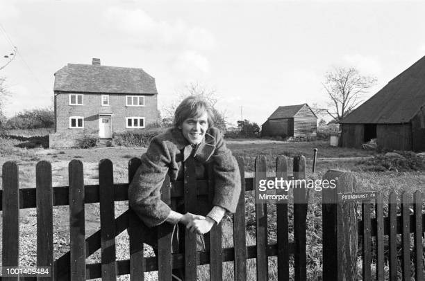 Pop singer Billy Fury has just bought a six acre farm near Ashford Kent where he will soon be able to keep all his animals and birds Pictured outside...