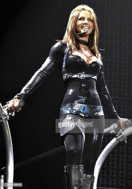 Pop singer Britney Spears launches her European tour 26 April 2004 at Wembley arena London. Spears is expected to sell more than USD 10 million in...