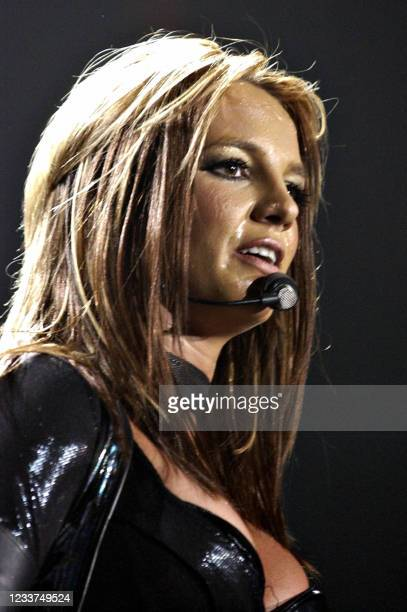 Pop singer Britney Spears launches her European tour at Wembley arena 26 April 2004 London. Spears is expected to sell more than USD 10 million in...