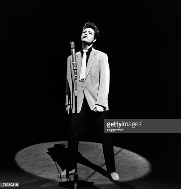 1959 Pop singer Cliff Richard singing live on stage