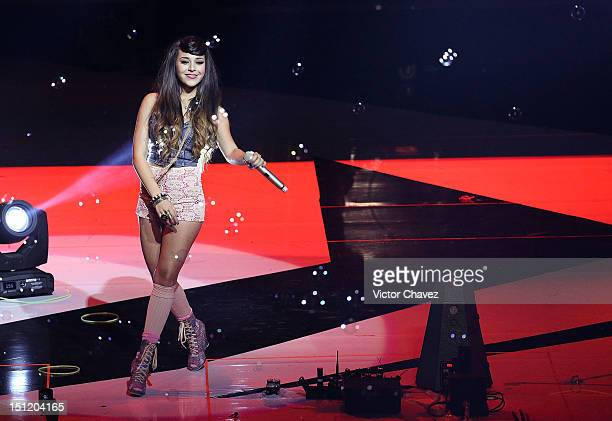 Pop singer Danna Paola performs onstage at the Kids Choice Awards Mexico 2012 at Pepsi Center WTC on September 1 2012 in Mexico City Mexico
