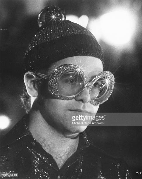 Pop singer Elton John plays the song 'Pinball Wizard' in the rock band 'The Who's' rock opera movie 'Tommy' which was released on March 26 1975 in...