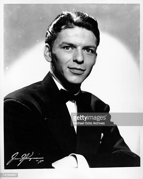 Pop singer Frank Sinatra poses for his first publicity portrait during his stint singing for the Tommy Dorsey Orchestra in New York City New York