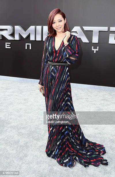 Pop singer Jane Zhang attends the premiere of Paramount Pictures' Terminator Genisys at the Dolby Theatre on June 28 2015 in Hollywood California