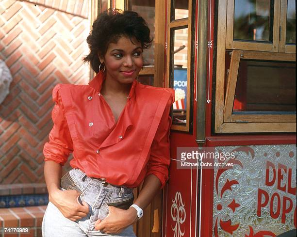 Pop singer Janet Jackson poses for a portrait session in August 1985 in Los Angeles, California.