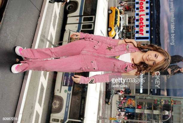 Pop singer JoJo poses for a photo backstage during MTV's Total Request Live at the MTV Times Square Studios June 22 2004 in New York City