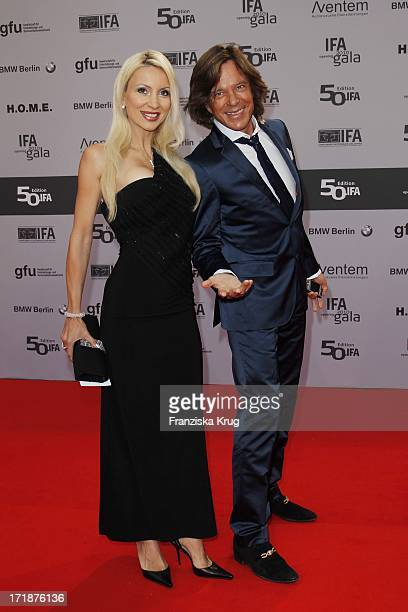 Pop singer Juergen And His Wife Drews Ramona With The IFA Opening Gala at the Palais am Funkturm in Berlin