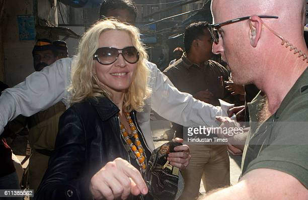 Pop Singer Madonna at Colaba Mumbai on Tuesday08 January 2008