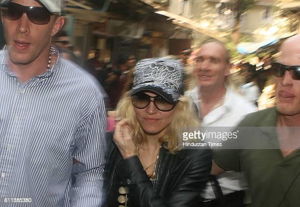 Pop Singer Madonna at Colaba Mumbai on Tuesday08 January 2008