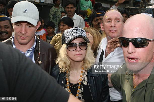 Pop Singer Madonna comes out from Ambedkar Nagar at Colaba Mumbai on Tuesday