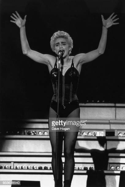 Pop singer Madonna performs during her 'Who's That Girl' tour in Tokyo Japan in 1987