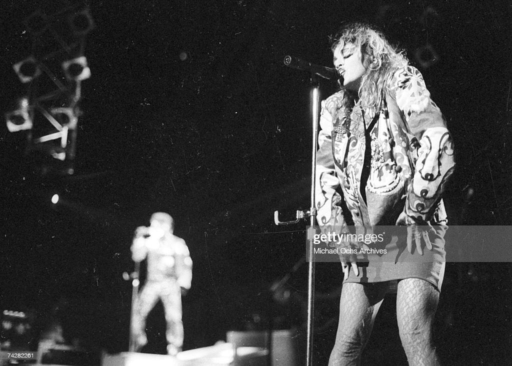 Pop Singer Madonna Performs Onstage At Madison Square Garden In 1984 In New  York City New. U0027