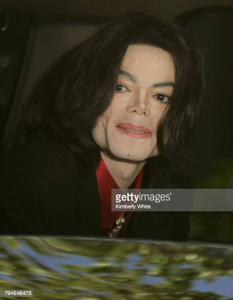 Pop singer Michael Jackson looks out the window of his car after leaving the Santa Barbara County Courthouse Superior Court Judge Rodney S Melville...