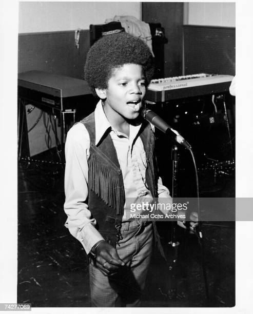 Pop singer Michael Jackson of the RB quintet Jackson 5 performs onstage in circa 1970