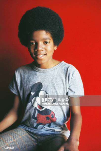 Pop singer Michael Jackson of the RB quintet 'Jackson 5' poses for a portrait wearing a Mickey Mouse tshirt in circa 1971