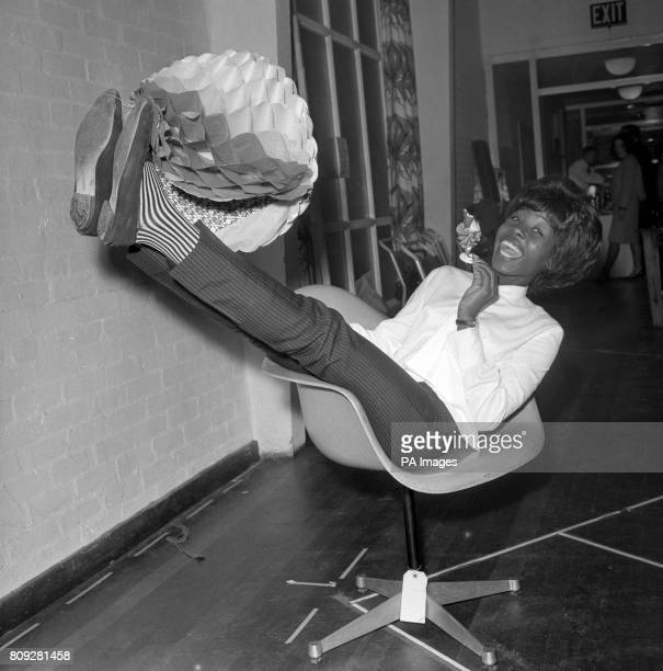Pop Singer Millie during rehearsals for her lead part in Television drama The Rise and Fall of Nellie Brown The story of a Jamaican girl's first...