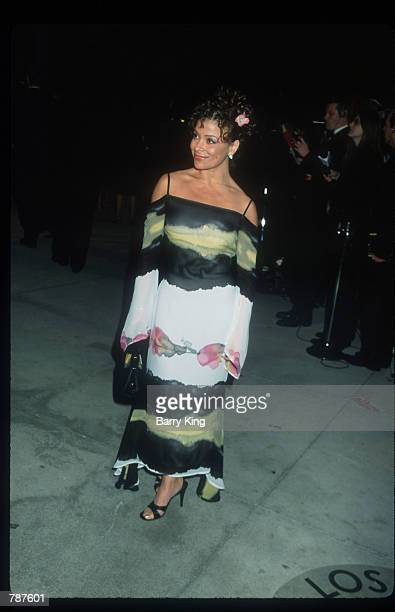 Pop singer Paula Abdul attends the Oscars party March 21 1999 in Los Angeles CA Abdul who got her start as an Los Angeles Lakers cheerleader had a...