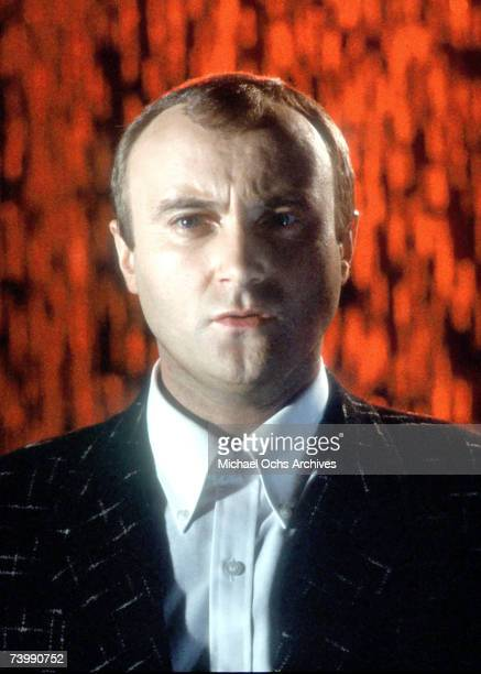 Pop singer Phil Collins records a music video in circa 1984