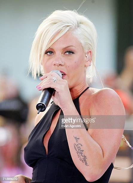 pink singer hair stock photos and pictures getty images