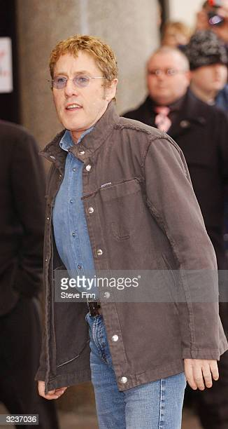 "Pop singer Roger Daltrey of the band ""The Who"" arrives at the ""Capital FM Awards 2004"" at the Royal Lancaster Hotel on April 7, 2004 in London. The..."