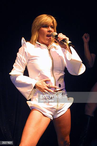 Pop singer Samantha Fox performs May 24 2003 at the 11th annual Life Ball charity ball in Vienna Austria Life Ball is one of the largest AIDS charity...