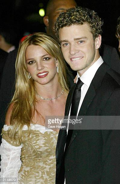 Pop singers Justin Timberlake and Britney Spears at the Clive Davis PreGrammy Party at the Beverly Hills Hilton Beverly Hills California on February...