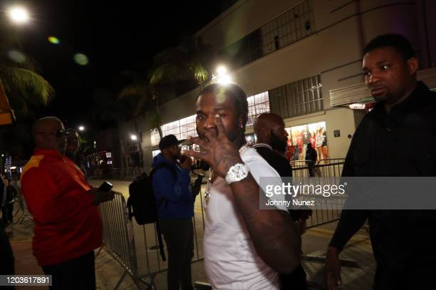 Pop Smoke attends Trey Songz 50 Cent Host The Big Game Weekend 2020 at Cameo on February 01 2020 in Miami Florida