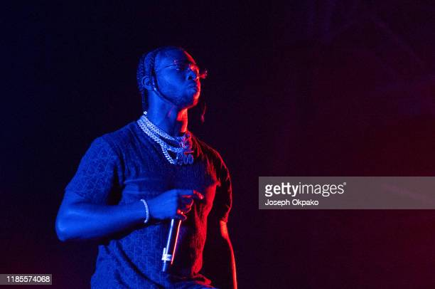 Pop Smoke performs at Olympia London on November 29 2019 in London England