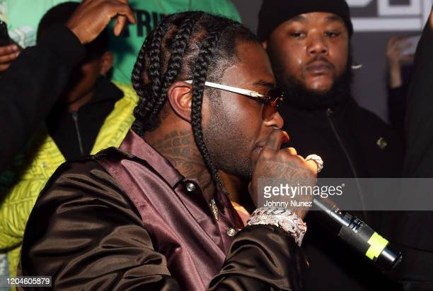 Pop Smoke performs at the Pop Smoke Listening Party at Villain on February 06 2020 in New York City
