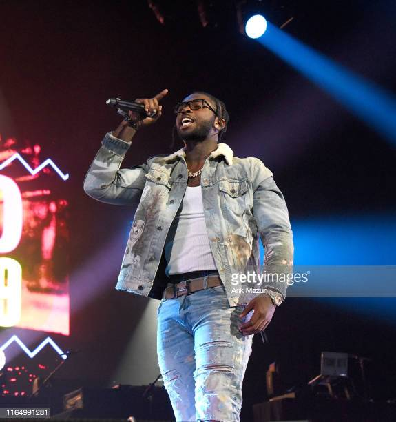 Pop Smoke performs at the Soulfrito Music Festival at Barclays Center on August 30 2019 in New York City