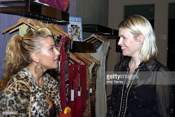 Pop star Anastacia and designer Jenny Packham