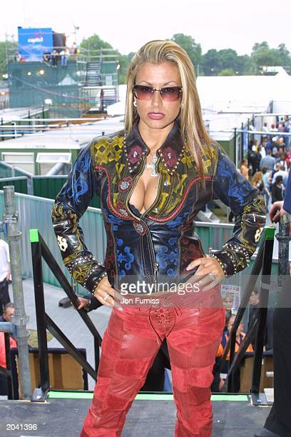 Pop star Anastacia at Capital FM's Party in the Park on July 8 at Hyde Park London England