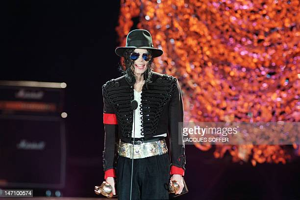 US pop star and entertainer Michael Jackson thanks fans after winning three World Music Awards in Monaco on May 12 1993 Michael Jackson died on June...