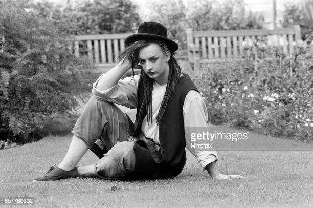 Pop star Boy George of Culture Club group Pictured after the group moved into 15th spot in the charts 28th September 1982