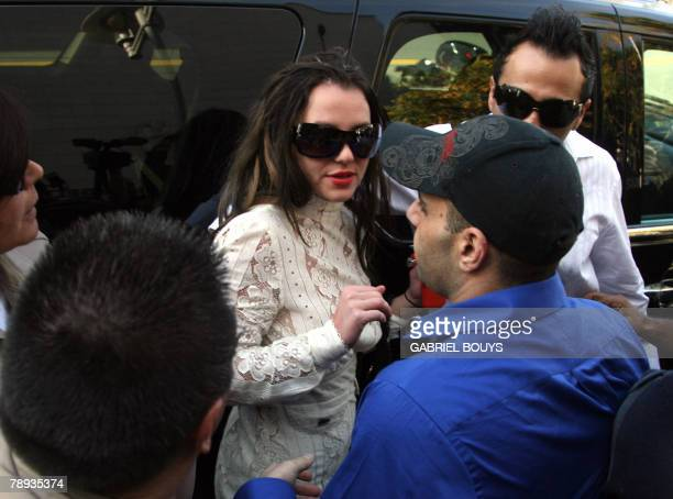 Pop star Britney Spears arrives at the Los Angeles County Superior courthouse 14 January 2008 for a hearing regarding visitation rights for her two...