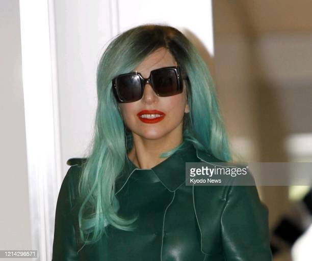 Pop star Lady Gaga is pictured on June 21 during her trip to Japan