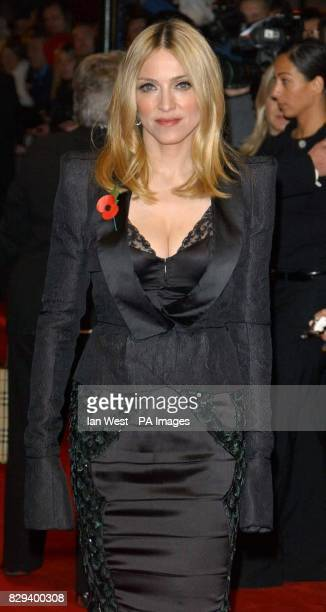 Pop star Madonna arrives for the UK Music Hall Of Fame live final at the Hackney Empire in east London The Channel 4 series looking at popular music...