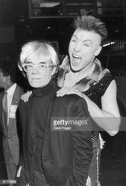 Pop star Marilyn pretends to assault pop artist Andy Warhol 20th July 1985