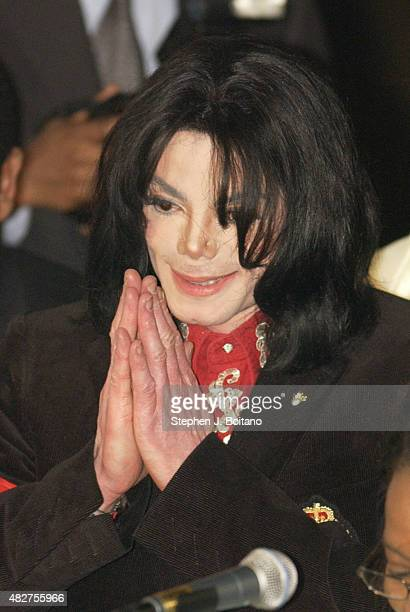 Pop Star Michael Jackson attends an event at the Ethiopian Embassy before receiving the Humanitarian Award from the African Ambassadors' Spouses...