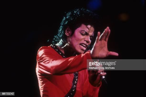 Pop Star Michael Jackson performs onstage in 1987 in Tokyo Japan