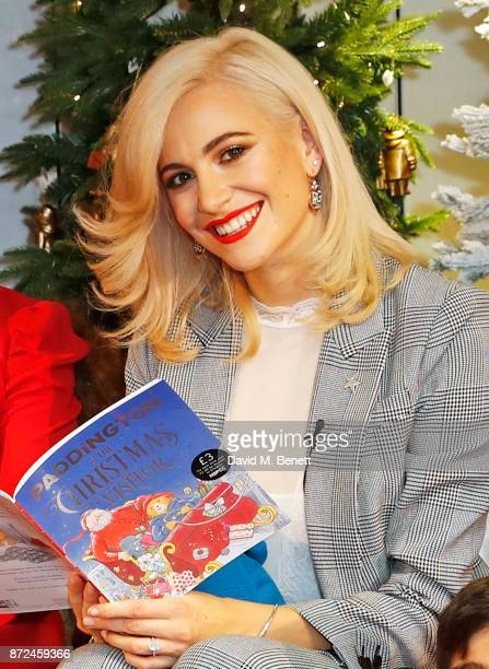 Pop star Pixie Lott launches MS's Christmas book 'Paddington And The Christmas Visitor' at MS on November 10 2017 in London England The festive tale...