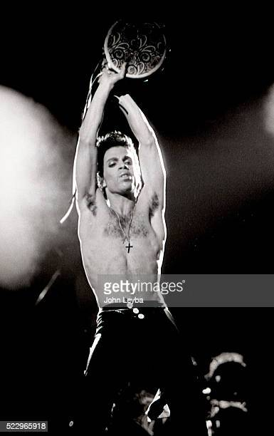 Pop star Prince performs during a tour stop in Denver at McNichols Arena July 1986 The pop star died Thursday morning at his Paisley Park estate in...