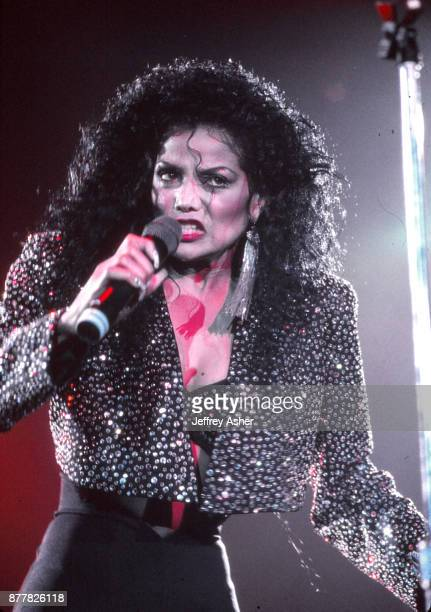 Pop Star Singer La Toya Jackson performs at Businessman Donald Trumps 42 Birthday Celebration at Trump Plaza Casino Hotel in Atlantic City New Jersey...