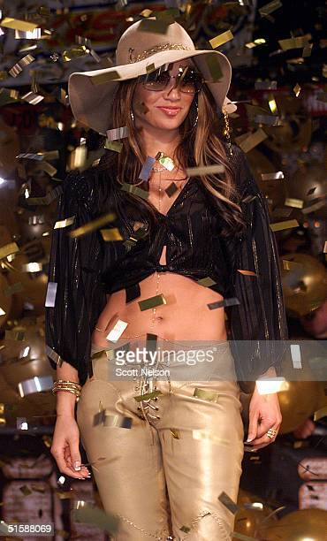 Pop Star/Actress Jennifer Lopez makes a 24 January 2001 appearance at the Virgin Music Megastore in West Hollywood California to promote the release...