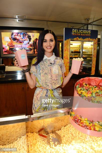 Pop superstar Katy Perry makes a surprise appearance at a special sneak preview of her new 3D feature film 'Katy Perry Part Of Me' at the Apollo West...