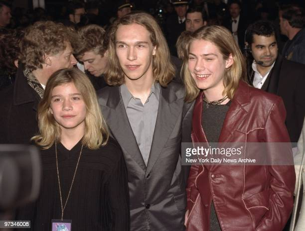 Pop trio Hanson arriving for the Grammy Awards at Radio City Music Hall