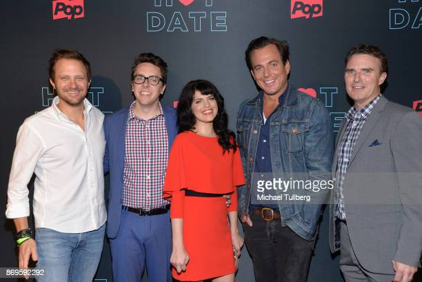 Pop TV President Brad Schwartz actors Brian Murphy Emily Axford and Will Arnett and guest attend the premiere of Pop TV's 'Hot Date' at Estrella on...