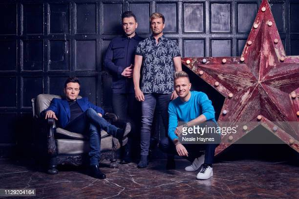 Pop vocal group Westlife are photographed for the Daily Mail on January 9, 2019 in London, England.