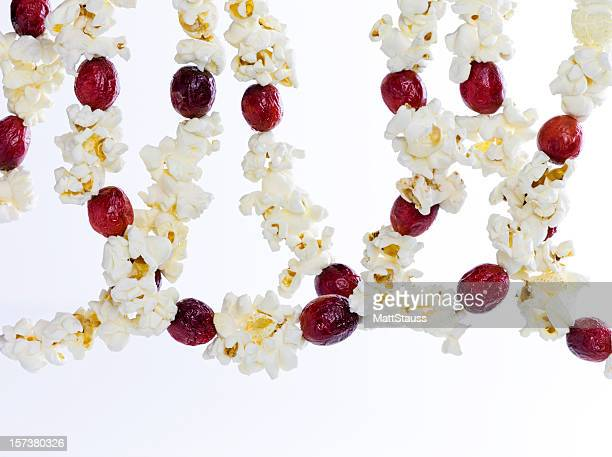 Popcorn and Cranberry Hanging Decoration