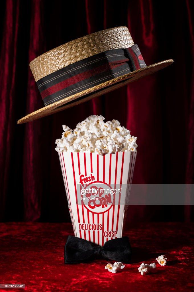 Popcorn and Hat : Stock Photo
